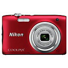 more details on Nikon Coolpix A100 20MP 5x Zoom Compact Camera - Red.