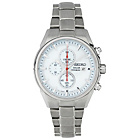 more details on Seiko Men's White Dial Solar Powered Chrono Bracelet Watch.