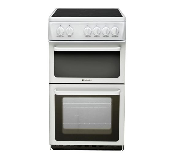 buy hotpoint hae51p twin cavity electric cooker white at. Black Bedroom Furniture Sets. Home Design Ideas