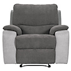 more details on HOME Lucerne Fabric Recliner Chair - Grey.