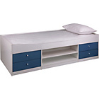 more details on Malibu Blue on White Cabin Bed with Ashley Mattress.