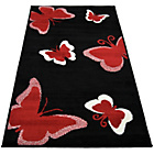 more details on Sparkle Butterfly Rug 80x150cm - Black and Red.