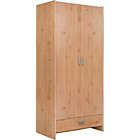 more details on New Capella 2 Door 1 Drawer Wardrobe - Pine Effect.