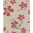 more details on Superfresco Rapture Wallpaper - Red and Beige.