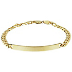 more details on Bracci 9ct Gold Curb ID Bracelet.