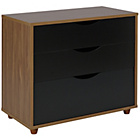 more details on Hygena Berkeley 3 Drawer Chest - Black and Walnut.