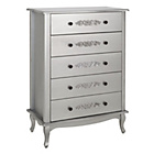 more details on Sophia 5 Drawer Chest - Silver.