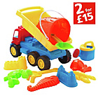 more details on Chad Valley 11 Pieces Sand Truck Bucket and Spade Set.