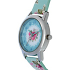more details on Tikkers Girls' Blue Floral Strap Watch, Purse, Necklace Set.