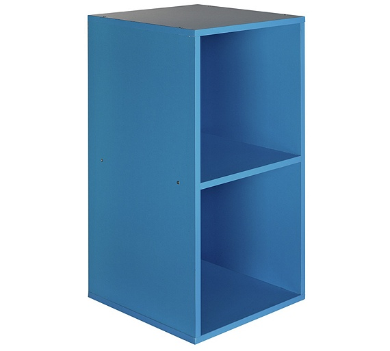 buy home phoenix 2 cube storage unit blue at. Black Bedroom Furniture Sets. Home Design Ideas