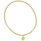 more details on 9ct Gold Puffed Heart Charm Anklet.