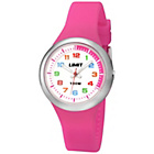 more details on Limit Girls' White Dial Pink Silicone Strap Watch.