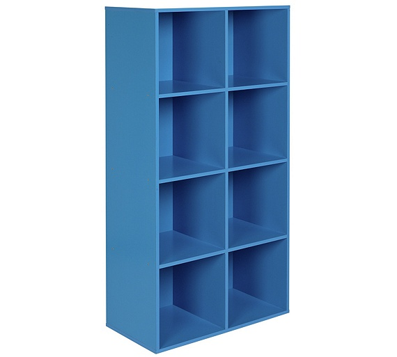 buy home phoenix 8 cube storage unit blue at your