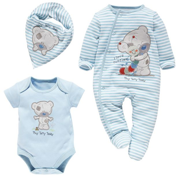 Buy Tiny Tatty Teddy Blue Gift Set 3 6 Months At Argos