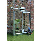 more details on Halls Aluminium Wall Garden Lean-to Greenhouse with Base.
