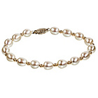 more details on Makoto Sterling Silver & Cultured Fresh Water Pearl Bracelet