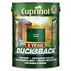 more details on Cuprinol Ducksback 5 Year Waterproof 5L - Forest Green.