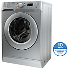 more details on Indesit XWDE751480XS 7KG 1400 Spin Washer Dryer - Silver.