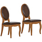 more details on Schreiber Castleton Pair Of Leather Dining Chairs.