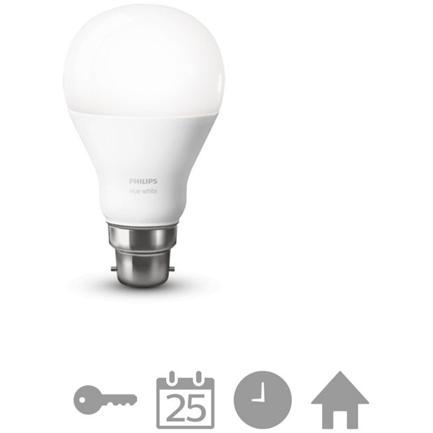 Buy Philips Hue White Wireless Led 9 5w B22 Light Bulb At Your Online Shop For