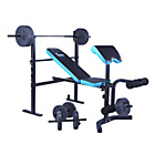 more details on WOW Men's Health Folding Workout Bench with 35kg Weights
