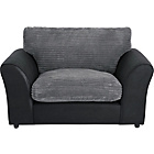 more details on New Bailey Jumbo Cord Cuddle Chair - Charcoal.