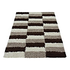 more details on Verve Brick Rug 160x230cm - Chocolate.