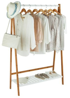 Buy Collection Belvoir Bamboo Clothes Rail with White ...