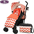 more details on Obaby Zeal Stroller Bundle - ZigZag Orange.