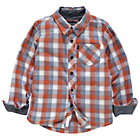 more details on Cherokee Boys Orange and Blue Check Shirt - 7-8 Years.