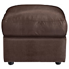 more details on HOME New Alfie Leather Effect Footstool - Chocolate.