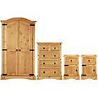more details on Collection Puerto Rico 4 Pc 2 Dr Wardrobe Package-Light Pine