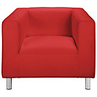 more details on ColourMatch Moda Leather Effect Chair - Poppy Red.