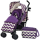 more details on Obaby Zeal Stroller Bundle - ZigZag Purple.