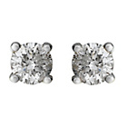 more details on Sterling Silver 0.50ct Diamond Solitaire Earrings with Box.