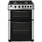 more details on Bush AG66D Double Gas Cooker - Stainless Steel.