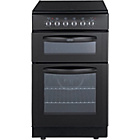 more details on Belling FSEC50FDO Double Electric Cooker - Black.