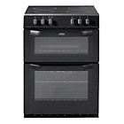 more details on Belling FSE60DO Double Electric Cooker - Black.