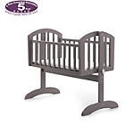more details on Obaby Sophie Swinging Crib & Mattress - Taupe Grey.
