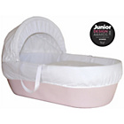 more details on Shnuggle Moses Basket with Covers & Mattress - Pink.
