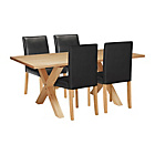 more details on Halfshire Pine Dining Table & 4 Black Chairs.