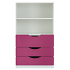 more details on Tolga 3 Drawer Bookcase - Pink.