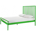 more details on Habitat Lucia Green Metal UK Kingsize Bed