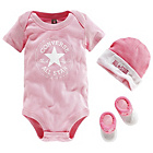 more details on Converse Pink 3 Piece Gift Set - 0-6 Months.