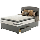 more details on Sealy Repose Pillowtop Memory Kingsize 2 Drawer Divan.