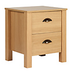 more details on Marlow 2 Drawer Bedside Chest - Oak Effect.