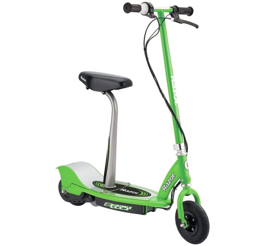 razor e225s electric scooter with removable seat 12mph rechargeable in green ebay. Black Bedroom Furniture Sets. Home Design Ideas