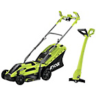 more details on Ryobi Electric Rotary 1250W Lawnmower and 300W Grass Trimmer