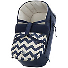 more details on Obaby Zeal Carrycot - ZigZag Navy.