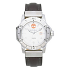 more details on Timberland Men's Charlestown Silver Dial Leather Strap Watch
